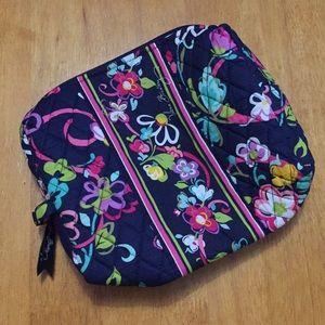 Vera Bradley Large Cosmetic Makeup Bag Ribbons